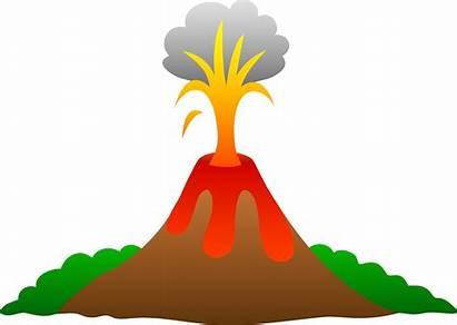 Volcano Drawing Cartoon Erupting Lava Getdrawings