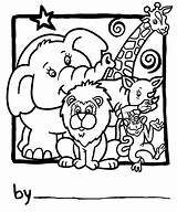 Zoo Coloring Animals Pages Printable Collage Drawing Number Personalization sketch template