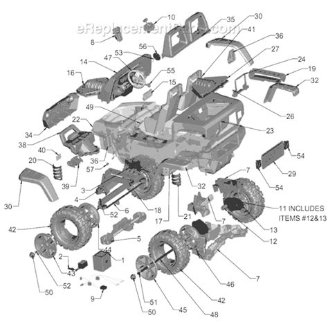 Power Wheels Parts List Diagram Green