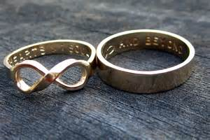 his and wedding rings engraved his and hers wedding bands onewed