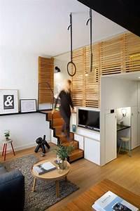 chambre salon amenagements astucieux pour petits espaces With tapis chambre bébé avec canapé bz gris