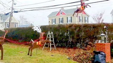 reindeer santa sleigh outdoor project youtube