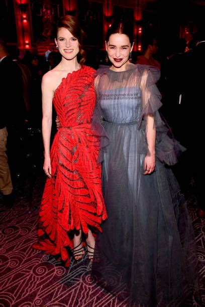 Rose Leslie and Emilia Clarke attend the