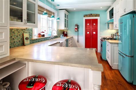 canisters for kitchen awesome turquoise kitchen with chiars blenko glass