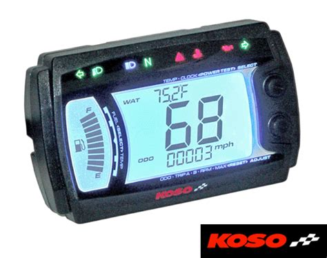 Koso Xr~srn Multi Function Motorcycle Digital