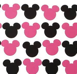 Mickey and Minnie Mouse Cut Outs