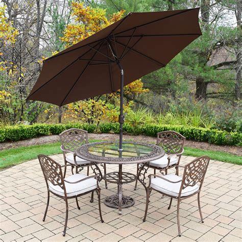 oakland living mississippi cast aluminum 7 pc patio set