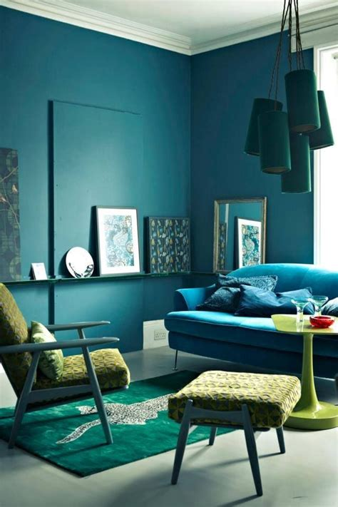 colour psychology painting   wall teal living