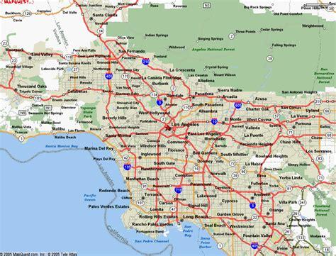 los angeles california mapa  blog