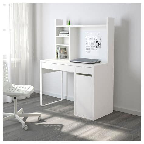 bureau ikea mikael micke workstation white 105x50 cm ikea