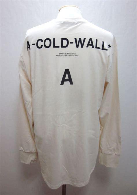 mens acw  cold wall print long sleeve  shirt black