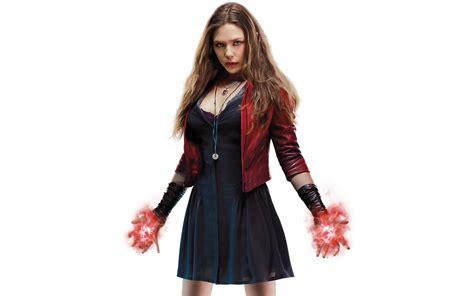 wallpaper scarlet witch elizabeth olsen marvel comics