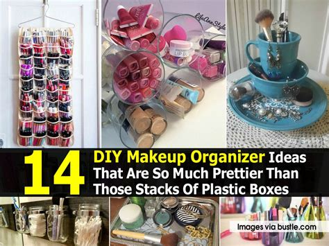 diy makeup organizer ideas     prettier