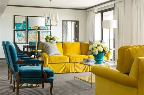 Blue 11 Interiors: Golden Globes Color Trend: Canary Yellow