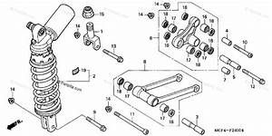 Honda Motorcycle 2001 Oem Parts Diagram For Rear Shock