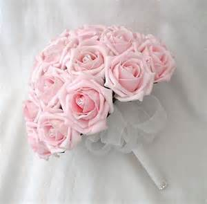 Pink Rose Bouquet Wedding Flowers