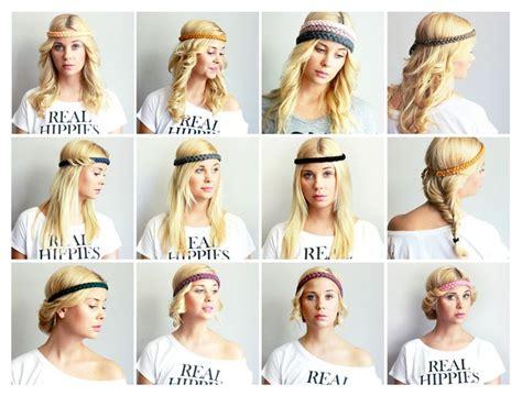 hippie frisur mit haarband 12 days 12 hairstyles 1 hippielove headband hippielove hairstlye hippie headband haarband