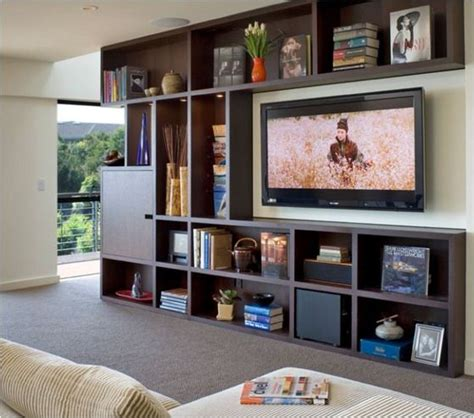 Tv In Bookcase by Best 25 Tv Bookcase Ideas On Tv Display Unit
