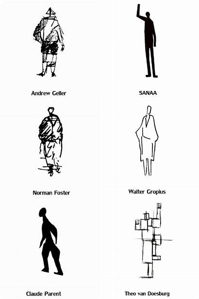 Human Figures Drawing Drawings Silhouette Architects Architecture
