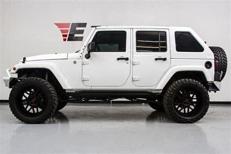 white jeep sahara lifted 1c4bjweg8fl626207 2015 jeep wrangler unlimited lifted