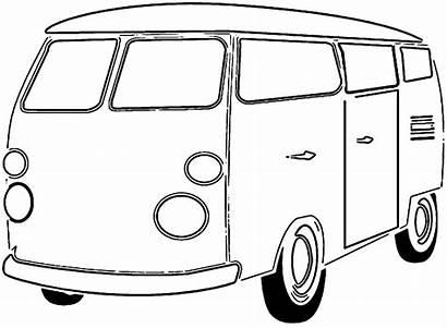 Van Coloring Bus Transport