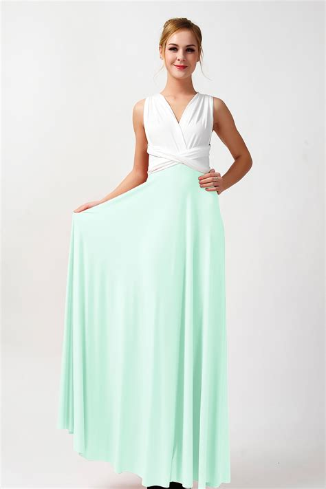 two color dress two colors convertible bridesmaid dresses ivory and