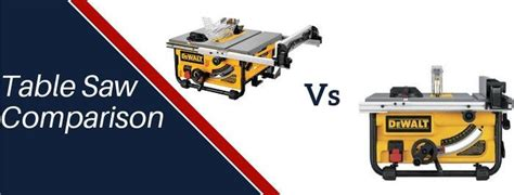 dewalt dw  dwe table  comparison