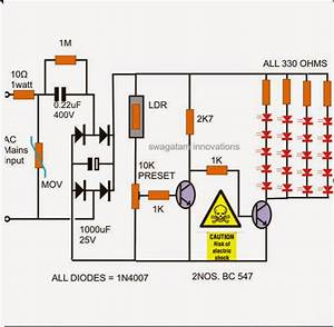 How To Make A Simple Led Automatic Day  Night Lamp Circuit