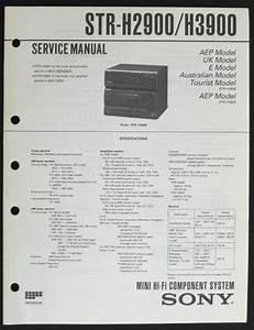 Sony Str H3900 Original Hifi System Service Manual