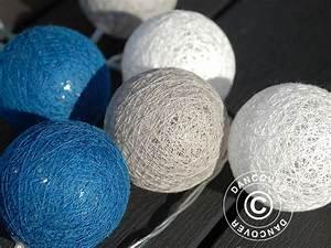 Guirlande Boule Coton : guirlande boule coton led aquarius 30 led cama eu de bleu dancovershop fr ~ Teatrodelosmanantiales.com Idées de Décoration