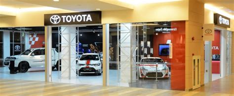 Mall Of Toyota by Umw Toyota Store In A Mall Now At Mitsui Outlet Park