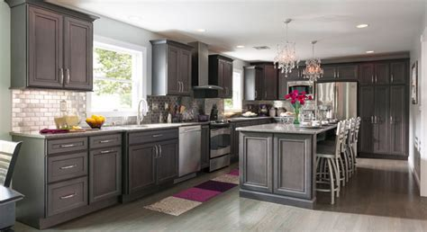 Gray Stained Cabinets by Remodeling A Kitchen Success Stories Masterbrand