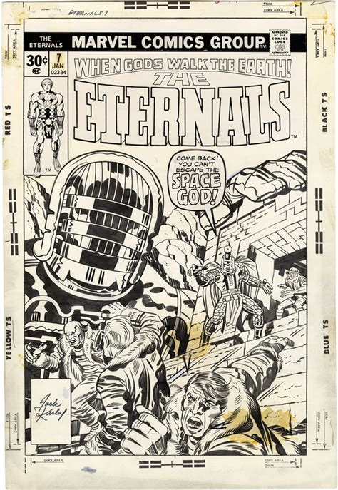 Gallery of Comic Art by Jack Kirby : The Eternals, Issue 7 ...