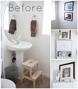 Decorating with white walls bathroom mini makeover the for How to decorate a bathroom wall