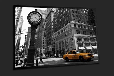 tableau d 233 co urbain taxis jaunes de new york home photo deco