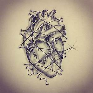 33 best Actual Heart Outline Tattoo Design images on ...
