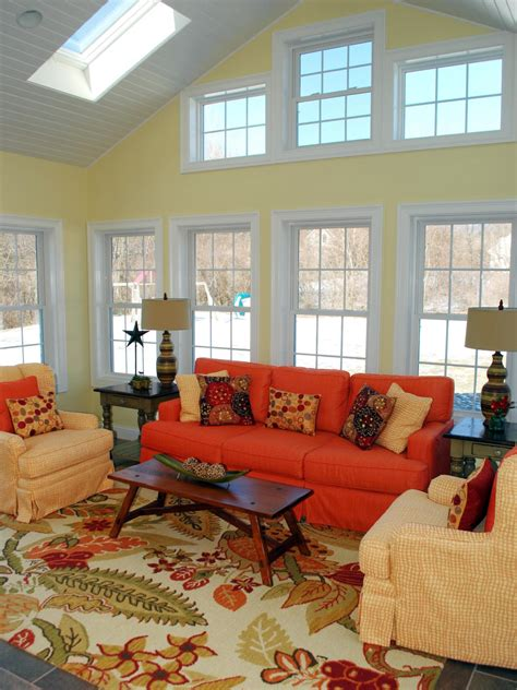country living room add color to a room with bold slipcovers home decor