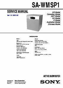 Sony Sa-ve11p Service Manual