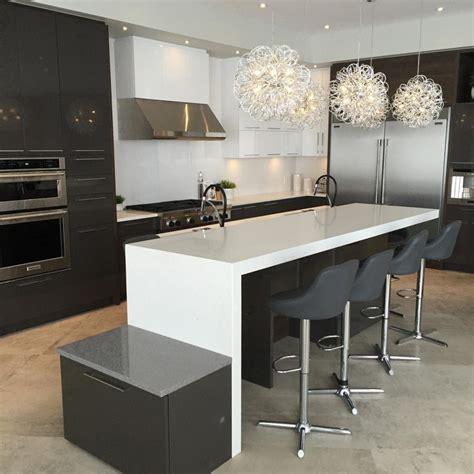 image ilot de cuisine îlot de cuisine doublé nuance design