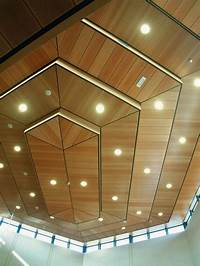 ceiling wood panels Stylish wood ceiling panels, collection from Hunted Douglas