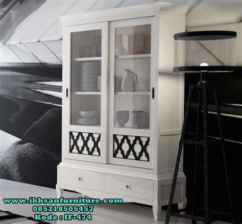 lemari piring kayu murah minimalis modern