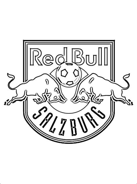 Kleurplaat Redbull kleurplaten bull salzburg logo gratis kleurplaten