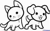 Coloring Kawaii Animals Draw Step sketch template