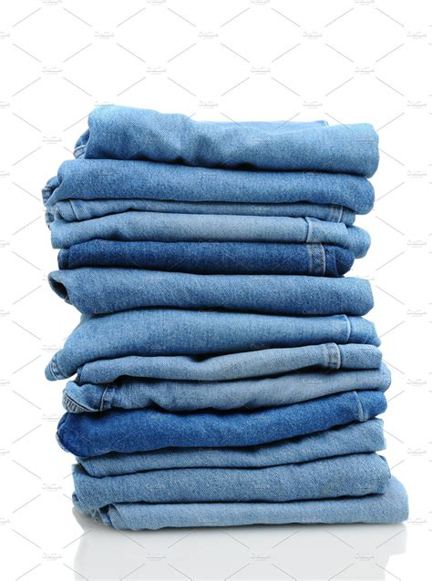 stack  blue jeans  white beauty fashion