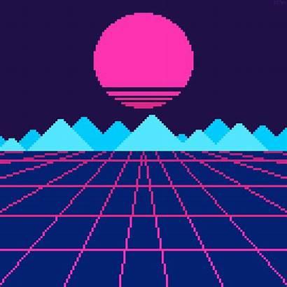 Pixel Vaporwave Retro Gifs Soft Covers Fi