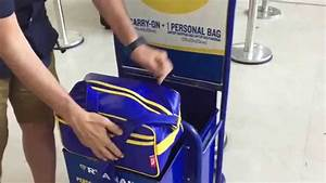 Taking full advantage of Ryanair's cabin baggage allowance ...