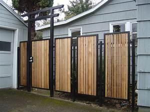 Metal And Woods : ideal care for metal fence panels best house design ~ Melissatoandfro.com Idées de Décoration