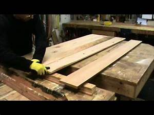 building a reclaimed wood tabletop youtube With building a reclaimed wood table