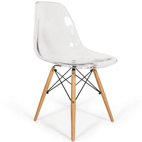 chaise eames dsw style transparent meubles design