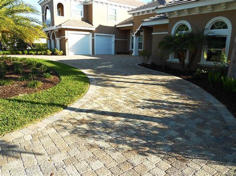 olde towne 3pc pervious pavers installed in a